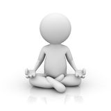 3d man doing meditation Stock Images
