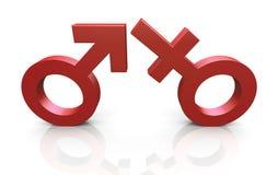 3d man en vrouwensymbolen Royalty-vrije Illustratie