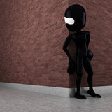 3d man evil criminal waiting Royalty Free Stock Images