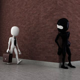 3d man evil criminal waiting Stock Photos