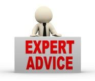 3d man - expert advice Stock Image
