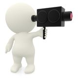 3D man filming Stock Images