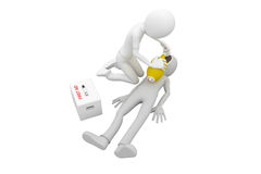 3d man first aid. 3d man doing artificial respiration first aid Stock Images