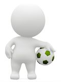 3D man with a football Stock Photography