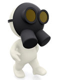3d man with a gas mask Royalty Free Stock Image