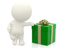 3D man with a gift Stock Image