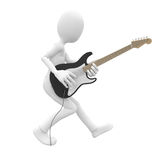 3d man with guitar Royalty Free Stock Photography