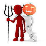 3d man, halloween costume party Royalty Free Stock Photos