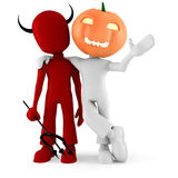 3d man, halloween costume party Stock Photo