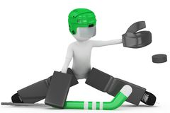 3d man with hockey gear Royalty Free Stock Images