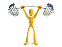 3d man hold heavy weight Stock Image