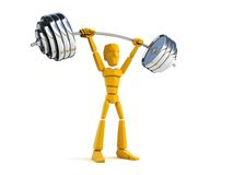 3d man hold heavy weight royalty free stock photos