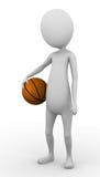 3D man holding a basketball Stock Photo