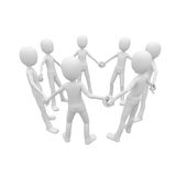 3d man holding hands in unity Royalty Free Stock Image