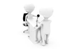 3d man interview speech concept Royalty Free Stock Image