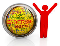 3d man with leadership wordcloud Royalty Free Stock Image