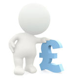 3D man leaning on a pound sign Stock Photo