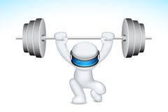 3d Man lifting Weights in vector Stock Photo