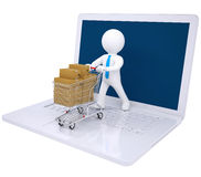 3d man made online purchases Stock Photography