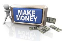 3d man making money Stock Images
