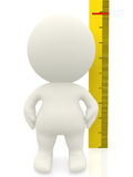 3D man measuring Royalty Free Stock Images