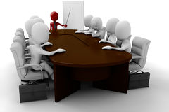 3d man - meeting. 3d men around a table having a meeting Royalty Free Stock Photos