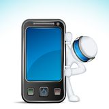 3d Man with Mobile Phone. Illustration of 3d man in vector fully scalable with mobile phone Stock Images