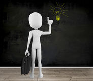 3d man with a new idea. Concept Stock Photography