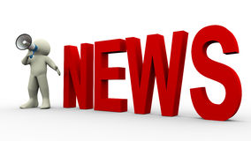 3d man news announcement royalty free illustration