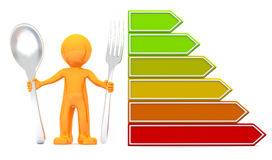 3d man with nutrition scale Royalty Free Stock Image