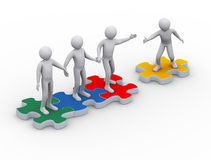 Free 3d Man On Puzzle Joining Team Work Stock Photos - 27839673