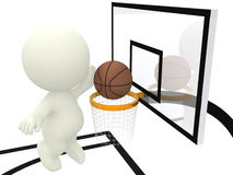 3d man playing basketball Stock Photos