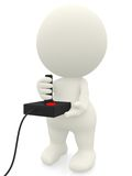 3D man playing video games Royalty Free Stock Images