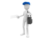 3d man post man Royalty Free Stock Photo