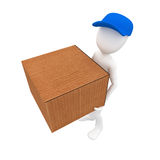3d man post man Stock Image
