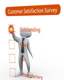 3d man rating survey questionnaire. 3d man rating Questionnaire about the level of satisfaction Royalty Free Stock Images