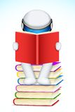 3d Man Reading Book. Illustration of 3d man in scalable vector reading book Stock Photos