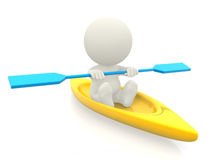3D man rowing Royalty Free Stock Image