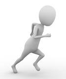 3D Man Running Stock Photo