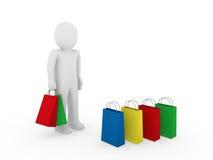3d man sale bag Stock Photography