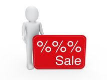 3d man sale card Stock Photo