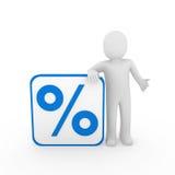 3d man sale percentage blue Stock Images