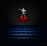 3d man on stage Stock Image