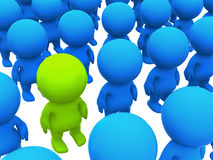 3d man standing out Royalty Free Stock Photography