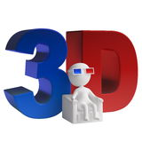 3d man stereoscope Stock Images
