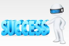 3d Man with Success. Illustration of 3d man in fully scalable vector showing success Royalty Free Stock Photos
