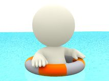 3D man swimming Stock Images