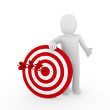 3d man target red Stock Images