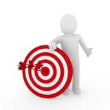 3d man target red. 3d human man target center success red business Stock Images