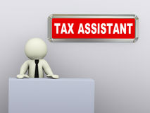 3d man tax assistant Royalty Free Stock Photography
